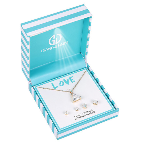 Giani Vernini Pendant and Earrings Set in Gift Box - GVB37 (Triangle)