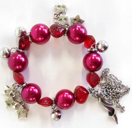 Bracelet with Charms - Red