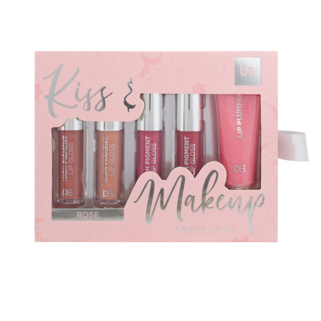 Designer Brands Kiss & Makeup 5 Piece Lip Kit - Rose