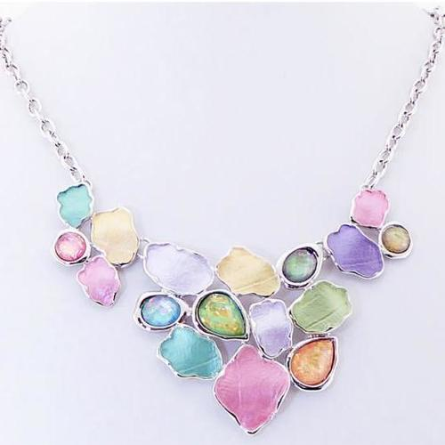 Necklace - Multi-Coloured Shapes
