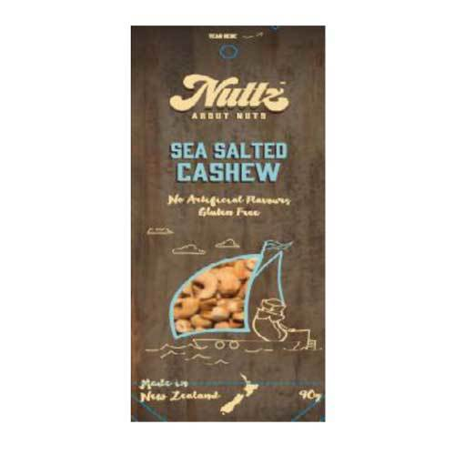Nuttz Sea Salted Cashews 90g