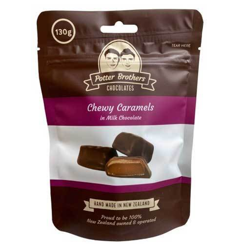 Potter Brothers Chocolates: Chewy Caramels in Milk Chocolate 130g