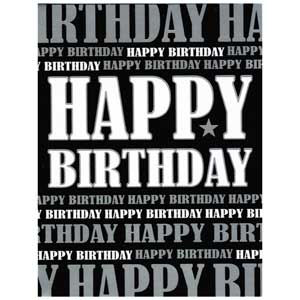 Gift Card: Happy Birthday (Black & White)